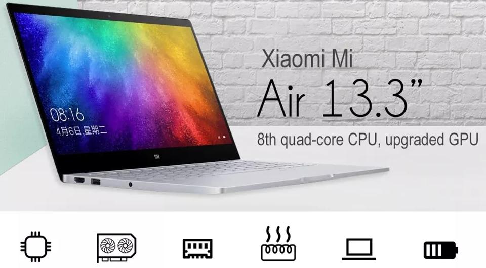 Xiaomi Mi Air 2019 Laptop 8GB RAM 256GB SSD