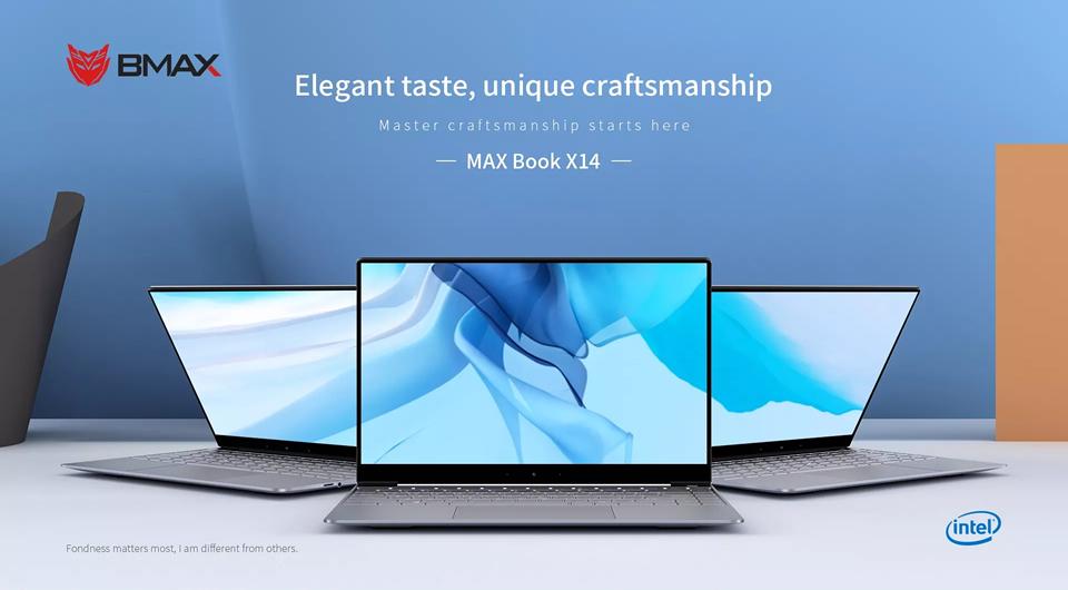 BMAX X14 Laptop 8GB LRAM 256GB ROM – Gray