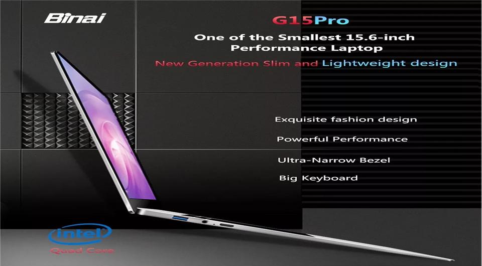 Binai G15 Pro Laptop 8GB RAM 512GB SSD – Silver