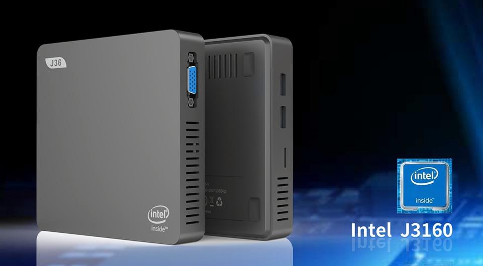J36-V Intel Celeron J3160 Windows10 SSD SATA Mini PC