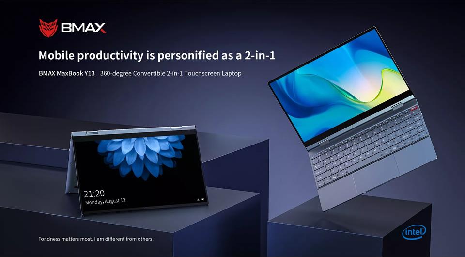 BMAX Y13 Laptop 8GB LPDDR4 RAM 256GB SSD