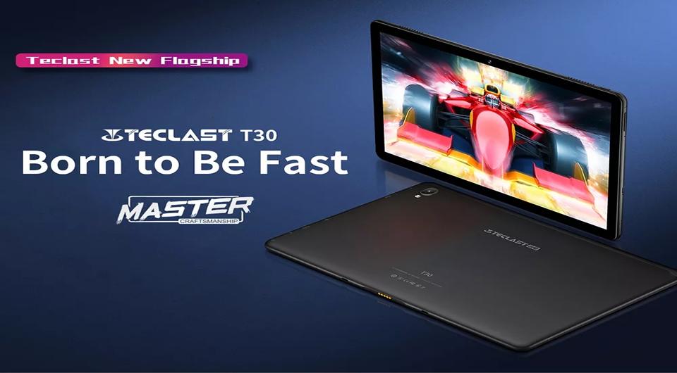 Teclast T30 4G Tablet 4GB RAM + 64GB ROM – Black
