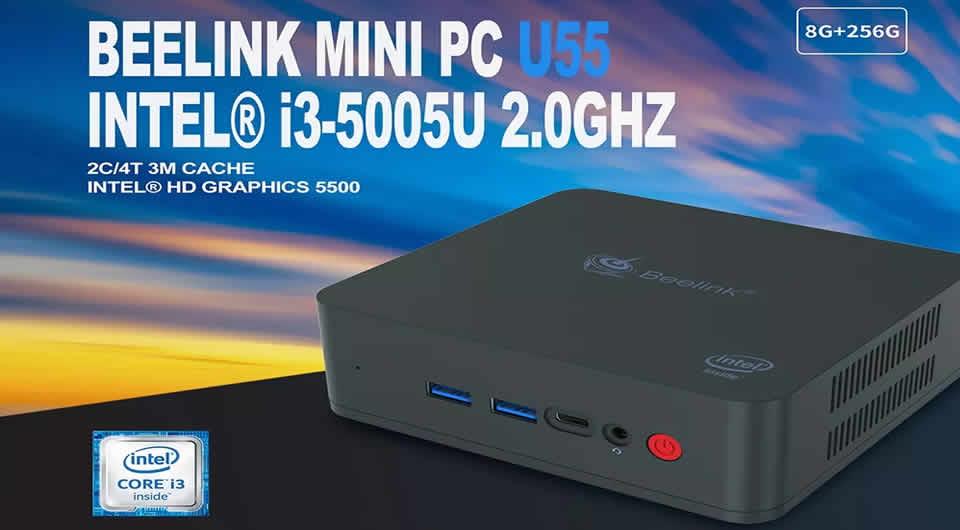Beelink U55 Mini PC Intel Core i3